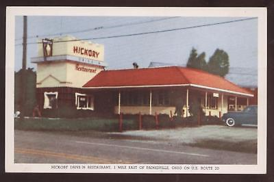 POSTCARD Painesville, OH Hickory Diner 1940's