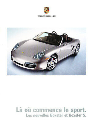 2005 Porsche Boxster and S French Sales Brochure Book