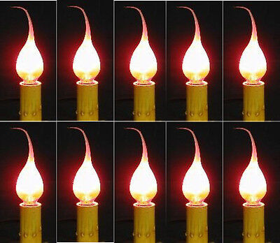 Lot of 10 Primitive Silicone Dipped Country Candle Lamp Light Bulbs 5 watt