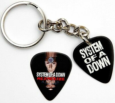 System of a Down Guitar Pick Keyring + Matching Pick