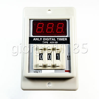 DC 12V Power ON Delay Timer Time Relay 1-999 Minute