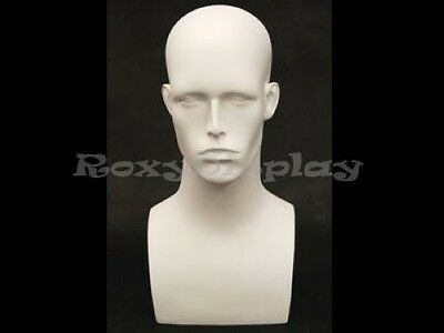 Male Mannequin Head Bust Wig Hat Jewelry Display #EraW2