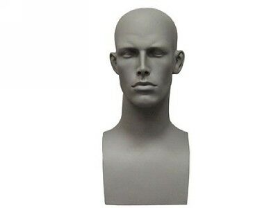 Male Mannequin Head Bust Wig Hat Jewelry Display #EraG