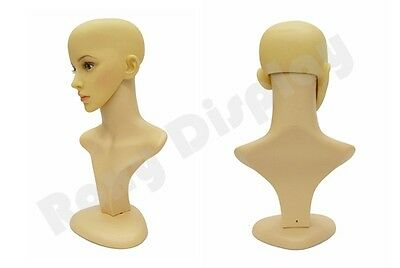 Female Mannequin Head Bust Wig Hat Jewelry Display  #PS-D2