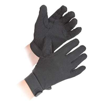 Children's Horse Riding Gloves - Black - Small - Cotton by Shires