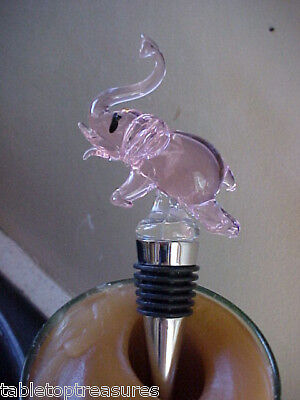 Pink Elephant Wine   Stopper