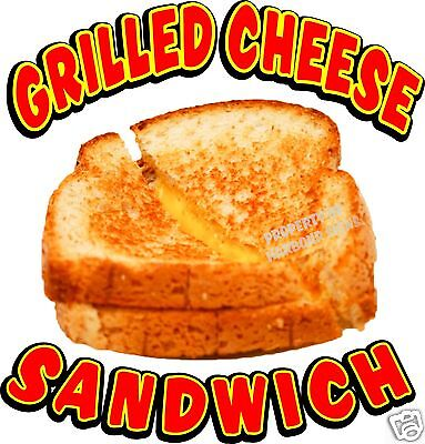 "Grilled Cheese Sandwich Concession Decal 14"" Food Menu"