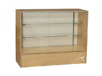 """48"""" Maple Full Vision Showcase Display Store Fixture Knocked Down #SC4M"""