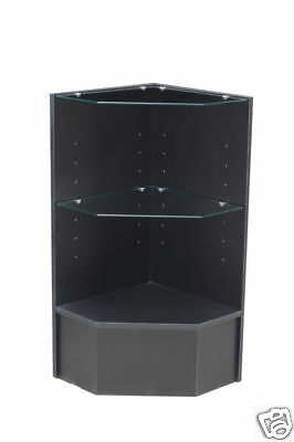 Glass Wood Black Showcase Display Case Store Fixture Knocked Down #PCM-CBK