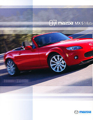 2007 Mazda Mx-5 Miata Mx5 28-page Original Car Sales Brochure Book