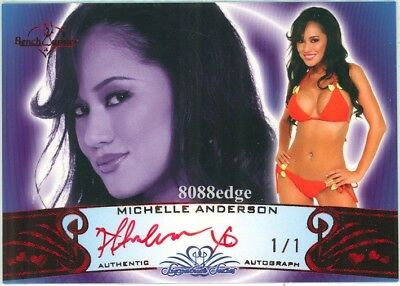 2010 Benchwarmer Red Auto: Michelle Anderson #1/1 Of Signature Series Autograph