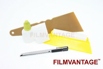 Home Window Tint Advance Application Tool Kit Tinting Film Squeegee & Solution