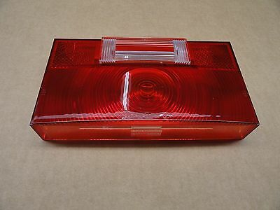 RV/Trailer Square Corner Tail Light Lens with Backup & License plate Windows