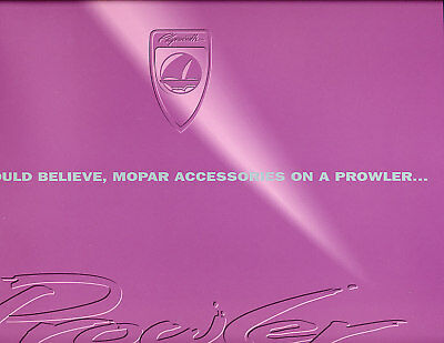 1998 Plymouth Prowler Accessories Sales Brochure
