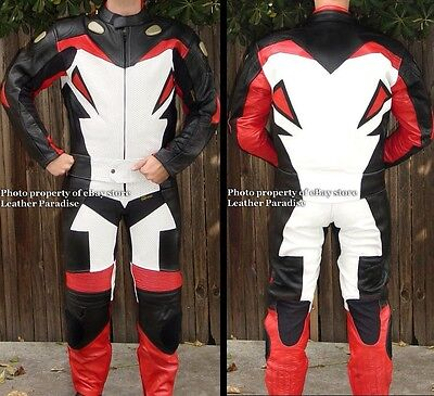 2PC VIPER RACE LEATHERS MOTORCYCLE RACING SUIT RED