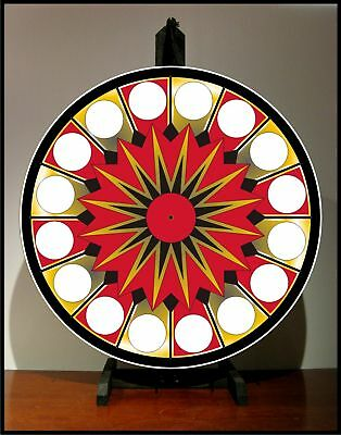 "Prize Wheel 24"" Spinning Tabletop Portable Casino NEW"