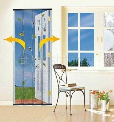 Insect Fly Screen Wasp Patio Door Draught Curtain W/b