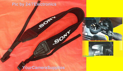 "NEOPRENE SHOULDER NECK STRAP with logo "" For SONY "" CAMERA CAMCORDER"