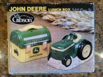 John Deere Tractor & Lunch Box Salt And Pepper Shakers