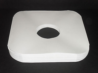 """100 White Paper 12"""" Inner LP Record Sleeves W/Center Hole-20# Acid-Free Paper"""