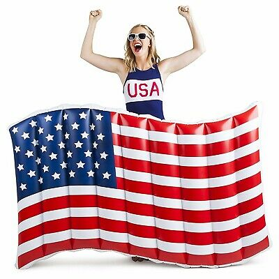 BigMouth Inc - 5 FT USA AMERICAN WAVING FLAG Inflatable Swimming Pool Float Raft
