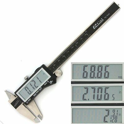 "iGaging Digital Electronic Caliper X-Large LCD Precision Fractional 1/128"" EzCal"