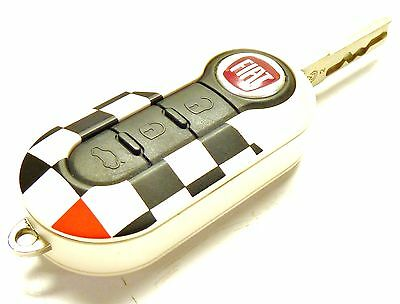 New Official Fiat Abarth 500, Panda, Grande Punto & Evo Chequered flag key cover