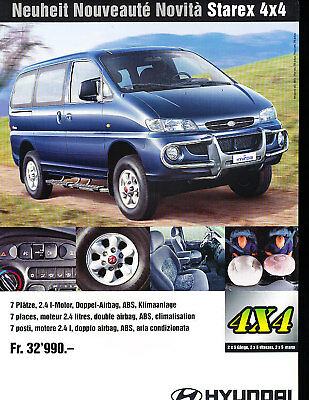 1999 2000 Hyundai Starex Van Sales Brochure German