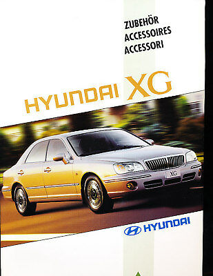 1999 Hyundai XG Accessories Sales Brochure German
