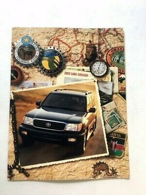 2002 Toyota Land Cruiser Original Sales Brochure
