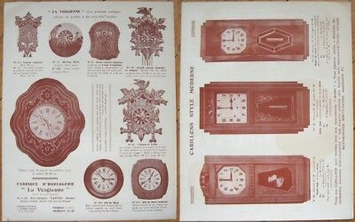 Art Deco CLOCK Advertising 1930s French Brochure/Flier - Baker's/Cuckoo/Deco