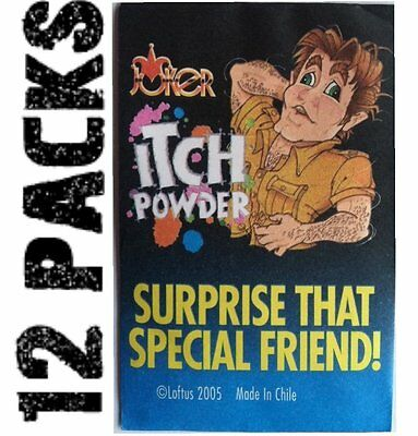 (12) Itch Itching Powder Packages ~ Funny Gag Prank Joke ~ (1 dozen)