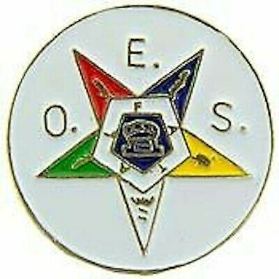 Order Eastern Star Oes Order Masonic Round Lapel Pin