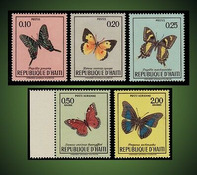 1969 Haiti  Butterflies Incomplete Series Mint Never Hinged