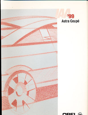 1999 Astra Coupe Press Photo Print and Release Brochure