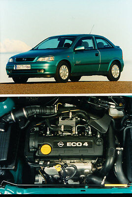 2000 Opel Astra OPC and Eco4  Press Photo Print