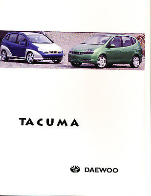 1999 2000 Daewoo Tacuma Press Photo Prints y Release GE