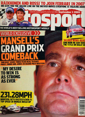 Autosport 1 Sep 2005 Mansell Hamilton clinches F3 title