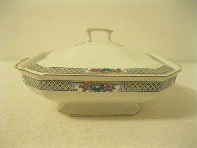 Vtg. J.& G. Meakin Covered Vegetable Bowl Pattern MEK29