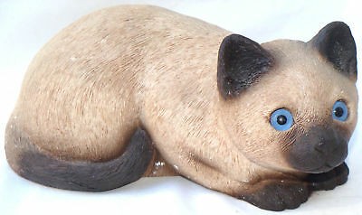 "SANDICAST CROUCHING ""SIAMESE KITTY"" CAT HAND-PAINTED & -CAST ARTIST SANDRA BRUE"