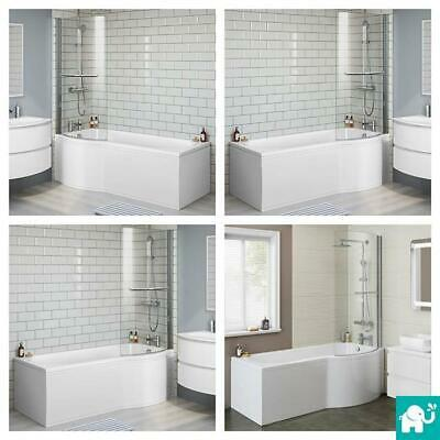 Modern L/P Shape Shower Screen Bath Tub Bathroom Suite