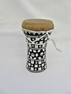 """Mini Egyptian Inlaid Wooden Mother of Pearl Drum-Tabla-Dumback 5"""""""