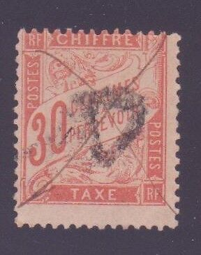 "FRANCE TAXE 34 "" 30c ROUGE-ORANGE "" OBLITERE TB"