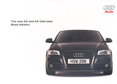 2009 Audi A3 Black Edition Sales Brochure Cabriolet