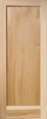 1 Panel Flat Shaker / Mission Stain Grade Poplar Solid Core Wood Interior Doors