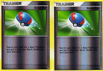 2x GREAT BALL 85/100 STORMFRONT Pokemon Card REVERSE HOLO Uncommon Trainer MINT