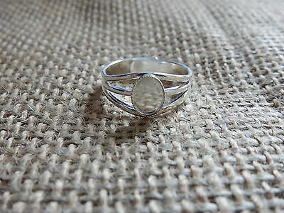 1 Silver Plated Ring Base Blank Adjustable Cabochon 8x6 Setting