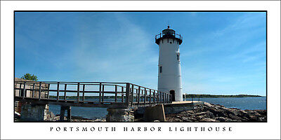 Poster Panorama Portsmouth Harbor Lighthouse Panoramic Fine Art Print Photo