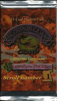 Five Rings (L5R) Ccg - Scorpion Clan Coup #1 Booster