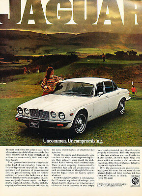1978 Jaguar XJ6 White Vintage Advertisement Ad P56